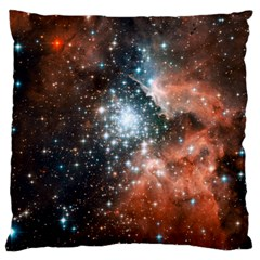 Star Cluster Large Flano Cushion Case (one Side) by SpaceShop