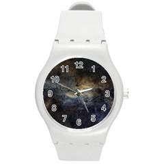 Propeller Nebula Round Plastic Sport Watch (m) by SpaceShop