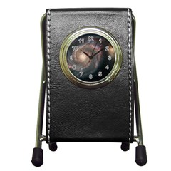Whirlpool Galaxy And Companion Pen Holder Desk Clocks by SpaceShop