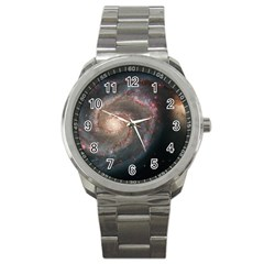 Whirlpool Galaxy And Companion Sport Metal Watch by SpaceShop