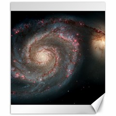 Whirlpool Galaxy And Companion Canvas 20  X 24   by SpaceShop