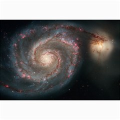 Whirlpool Galaxy And Companion Canvas 24  X 36  by SpaceShop