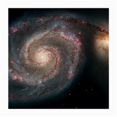 Whirlpool Galaxy And Companion Medium Glasses Cloth by SpaceShop