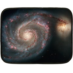 Whirlpool Galaxy And Companion Double Sided Fleece Blanket (mini)  by SpaceShop