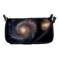 Whirlpool Galaxy And Companion Shoulder Clutch Bags by SpaceShop