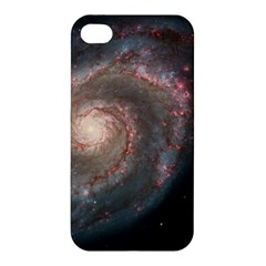 Whirlpool Galaxy And Companion Apple Iphone 4/4s Premium Hardshell Case by SpaceShop