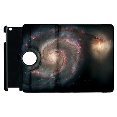 Whirlpool Galaxy And Companion Apple Ipad 2 Flip 360 Case by SpaceShop