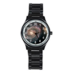 Whirlpool Galaxy And Companion Stainless Steel Round Watch by SpaceShop