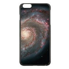Whirlpool Galaxy And Companion Apple Iphone 6 Plus/6s Plus Black Enamel Case by SpaceShop