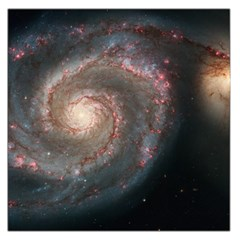 Whirlpool Galaxy And Companion Large Satin Scarf (square) by SpaceShop