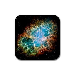 Crab Nebula Rubber Coaster (square)  by SpaceShop