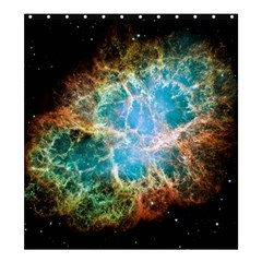 Crab Nebula Shower Curtain 66  X 72  (large)  by SpaceShop