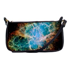 Crab Nebula Shoulder Clutch Bags by SpaceShop