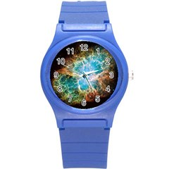 Crab Nebula Round Plastic Sport Watch (s) by SpaceShop