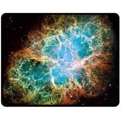 Crab Nebula Double Sided Fleece Blanket (medium)