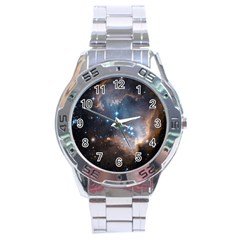 New Stars Stainless Steel Analogue Watch