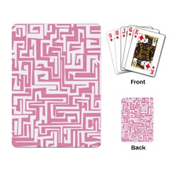 Pink Pattern Playing Card by Valentinaart