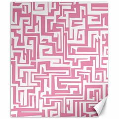 Pink Pattern Canvas 20  X 24   by Valentinaart
