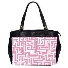 Pink Pattern Office Handbags (2 Sides)  by Valentinaart