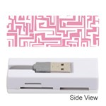 Pink pattern Memory Card Reader (Stick)  Front