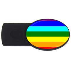 Rainbow Usb Flash Drive Oval (4 Gb) by Valentinaart