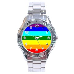 Rainbow Stainless Steel Analogue Watch by Valentinaart