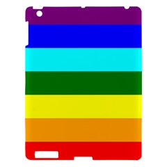 Rainbow Apple Ipad 3/4 Hardshell Case by Valentinaart