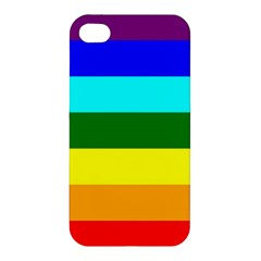 Rainbow Apple Iphone 4/4s Premium Hardshell Case by Valentinaart