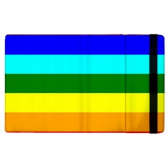 Rainbow Apple Ipad 2 Flip Case by Valentinaart