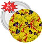 Floral pattern 3  Buttons (100 pack)  Front
