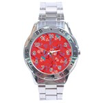 Floral pattern Stainless Steel Analogue Watch Front