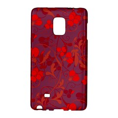 Red Floral Pattern Galaxy Note Edge by Valentinaart