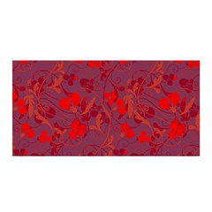 Red Floral Pattern Satin Wrap by Valentinaart