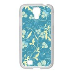 Floral pattern Samsung GALAXY S4 I9500/ I9505 Case (White) Front