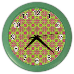 Pattern Color Wall Clocks by Valentinaart