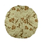 Floral pattern Standard 15  Premium Round Cushions Back