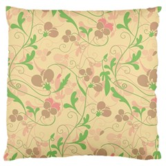 Floral Pattern Standard Flano Cushion Case (two Sides) by Valentinaart