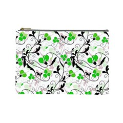 Floral Pattern Cosmetic Bag (large)  by Valentinaart