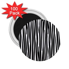Zebra Pattern 2 25  Magnets (100 Pack)  by Valentinaart