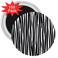 Zebra Pattern 3  Magnets (100 Pack) by Valentinaart