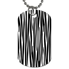 Zebra Pattern Dog Tag (two Sides) by Valentinaart