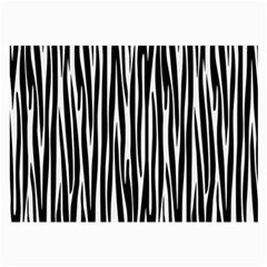 Zebra Pattern Large Glasses Cloth (2 Side) by Valentinaart