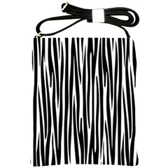 Zebra Pattern Shoulder Sling Bags by Valentinaart