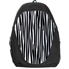 Zebra Pattern Backpack Bag by Valentinaart