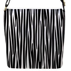 Zebra Pattern Flap Messenger Bag (s) by Valentinaart