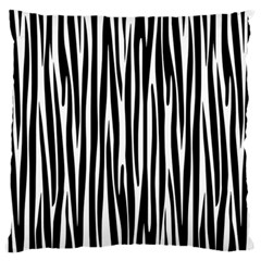 Zebra Pattern Large Flano Cushion Case (one Side) by Valentinaart