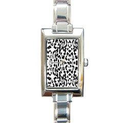 Animal Print Rectangle Italian Charm Watch by Valentinaart