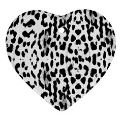 Animal Print Heart Ornament (two Sides) by Valentinaart