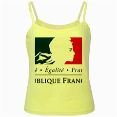 Symbol Of The French Government Yellow Spaghetti Tank by abbeyz71