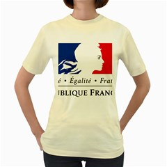 Symbol Of The French Government Women s Yellow T-shirt by abbeyz71